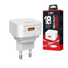 Зарядное устройство USB EMY Wall Charger Q Charge 3.0 18W