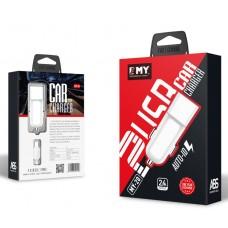 Зарядное устройство автомобильное USB EMY 5V/2.4A