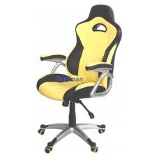 AMF Форсаж №1 Anyfix кожзам PU черный вставки желтые