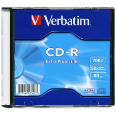 CD-R Диск 700MB Verbatim Slim 1шт