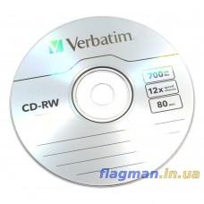 CD-RW Диск 700MB Verbatim 1шт
