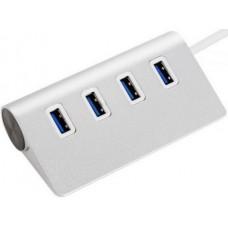 USB HUB 4port  3.0 алюминій, 20 см
