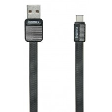 Кабель USB2.0 - USB Type-C 1м Remax Platinum Black (RC-044a)