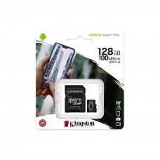 Карта пам'яті MicroSDXC 128GB Canvas Select Plus 100R A1 C10 C Kingston (SDCS2/128GB)