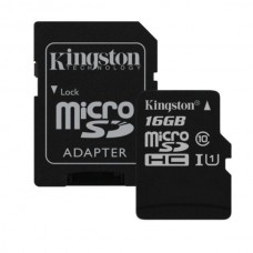 Карта памяти MicroSDHC 16GB Class 10 UHS-I + SD Adapter Kingston (SDCS/16GB)