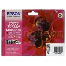 Картридж Epson T0735 набор B/C/M/Y