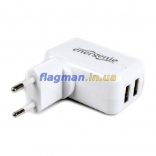 Зарядное устройство 2xUSB EnerGenie 2.1Ah EG-UC-AC1