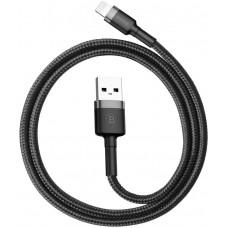 Кабель Baseus Cafule USB to Lightning 1.5A, 2м, gray+black