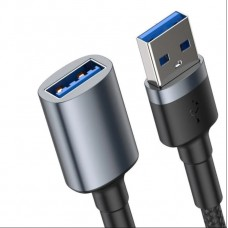 Кабель Baseus cafule Cable USB3.0 Male TO USB3.0 Female 2A 1m Dark gray